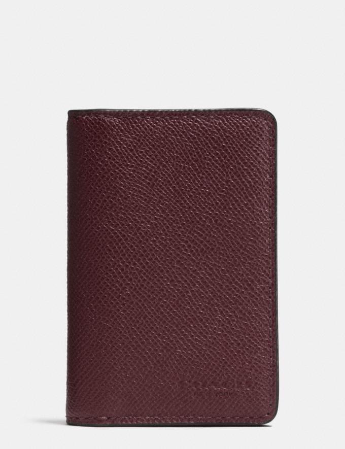 Coach Card Wallet in Crossgrain Leather Black CYBER MONDAY SALE Men's Sale Wallets