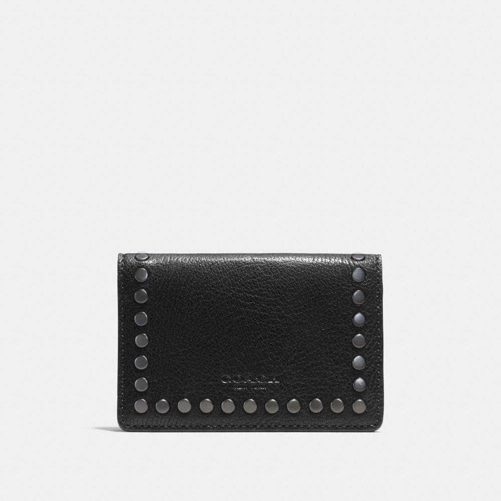 Coach Card Wallet With Studs