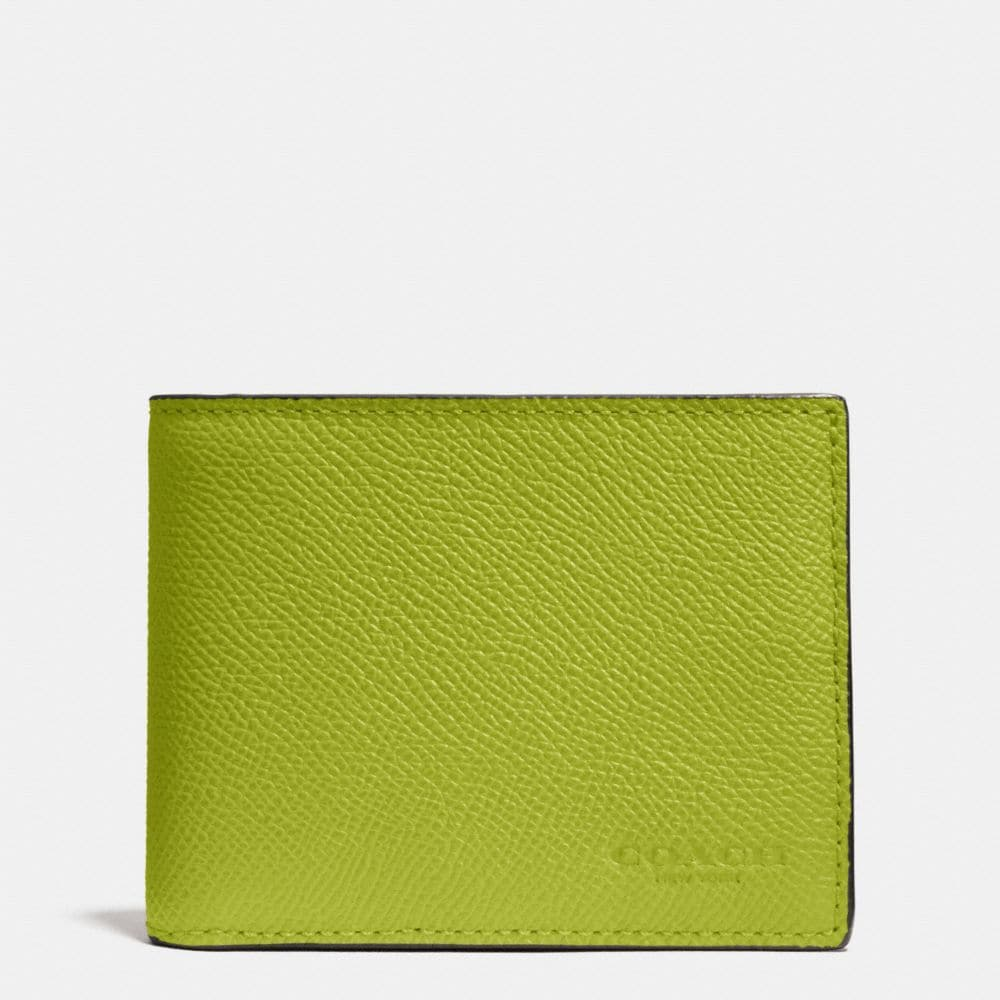 SLIM BILLFOLD WALLET IN CROSSGRAIN LEATHER