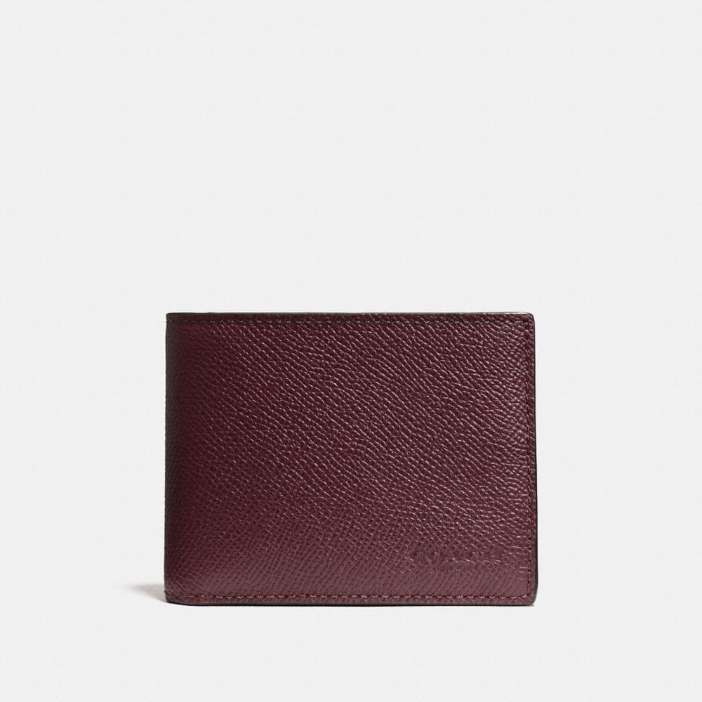 Slim Billfold Wallet in Crossgrain Leather