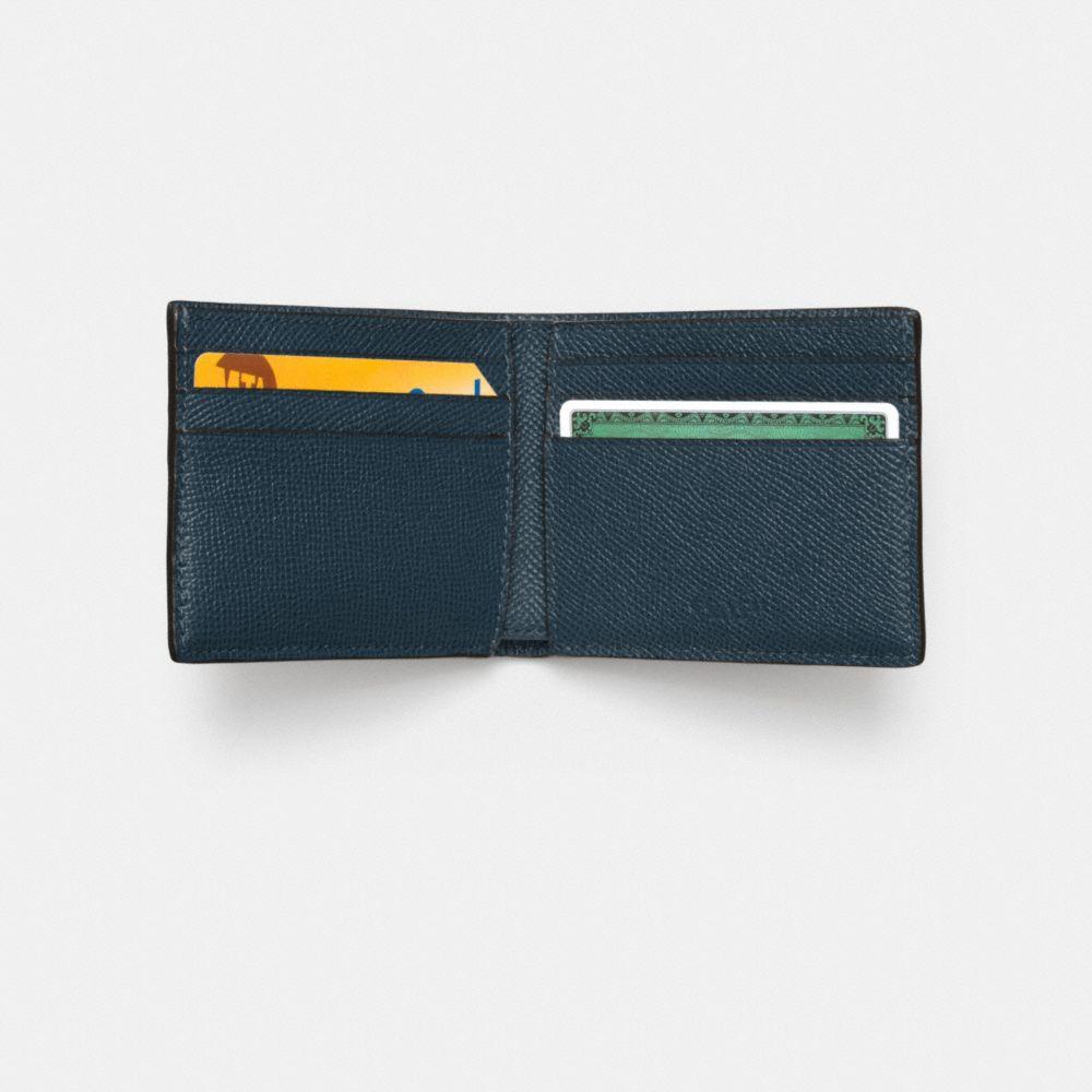 Slim Billfold Wallet in Crossgrain Leather - Alternate View L1