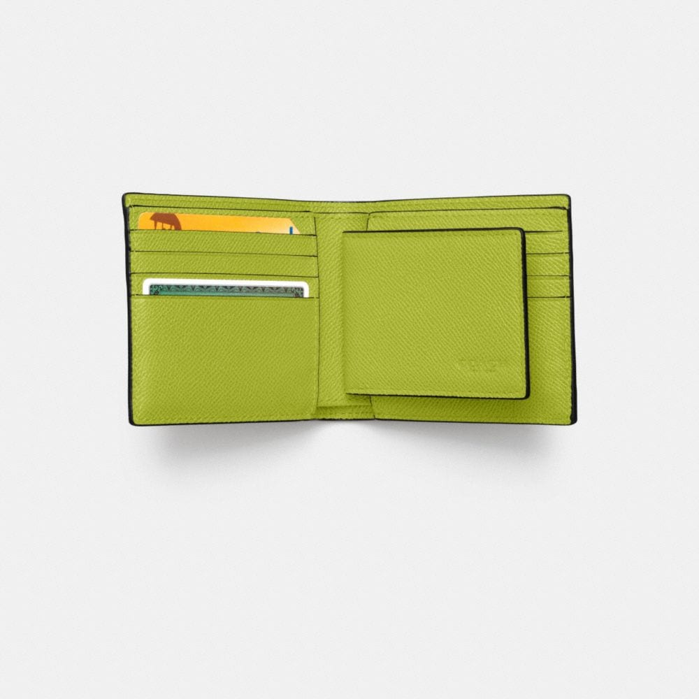 Compact Id Wallet in Crossgrain Leather - Autres affichages L1