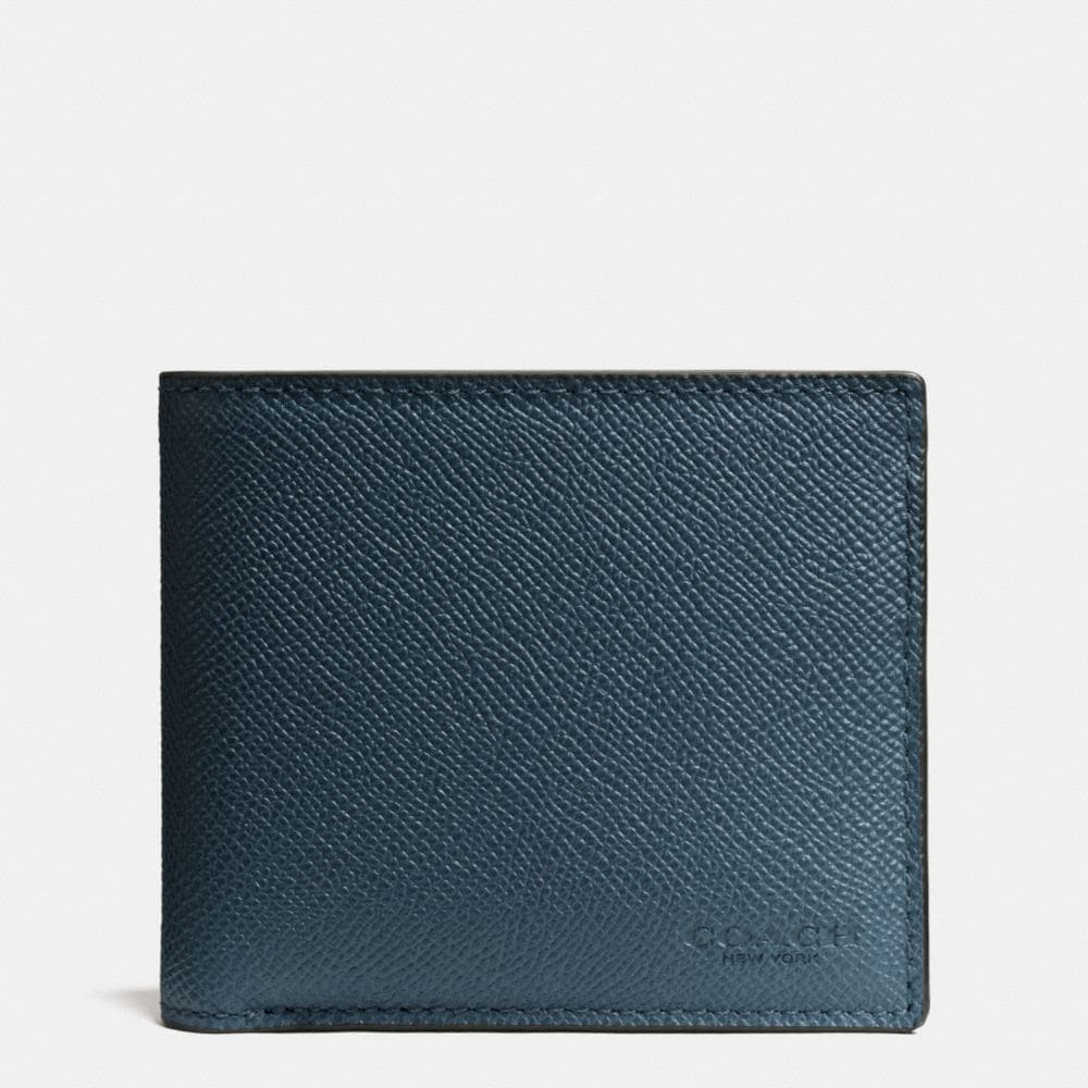 COMPACT ID WALLET IN CROSSGRAIN LEATHER