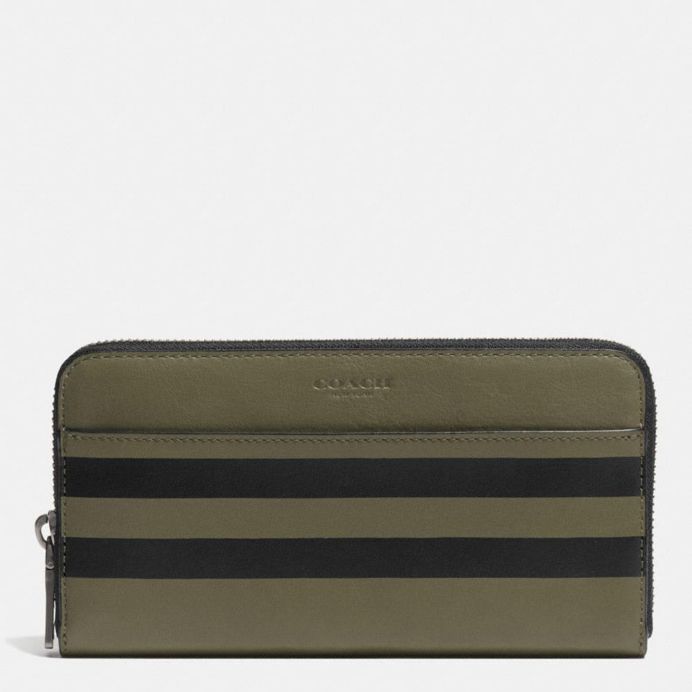 Varsity Stripe Accordion Wallet in Sport Calf Leather