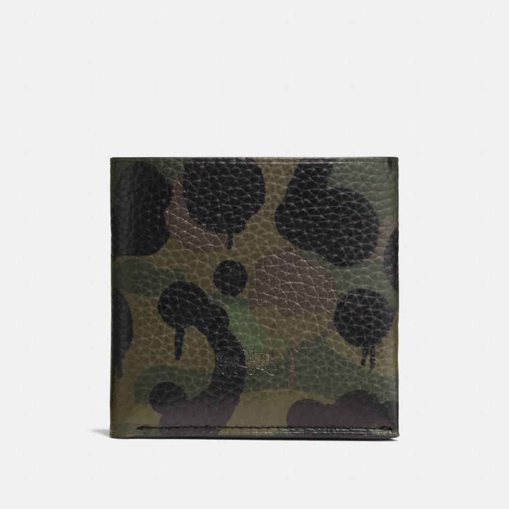 Billfold Wallet in Military Wild Beast Print Leather