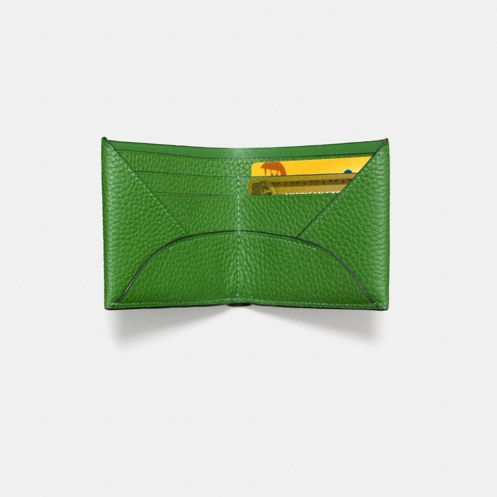 Billfold Wallet in Pebble Leather - Alternate View L1