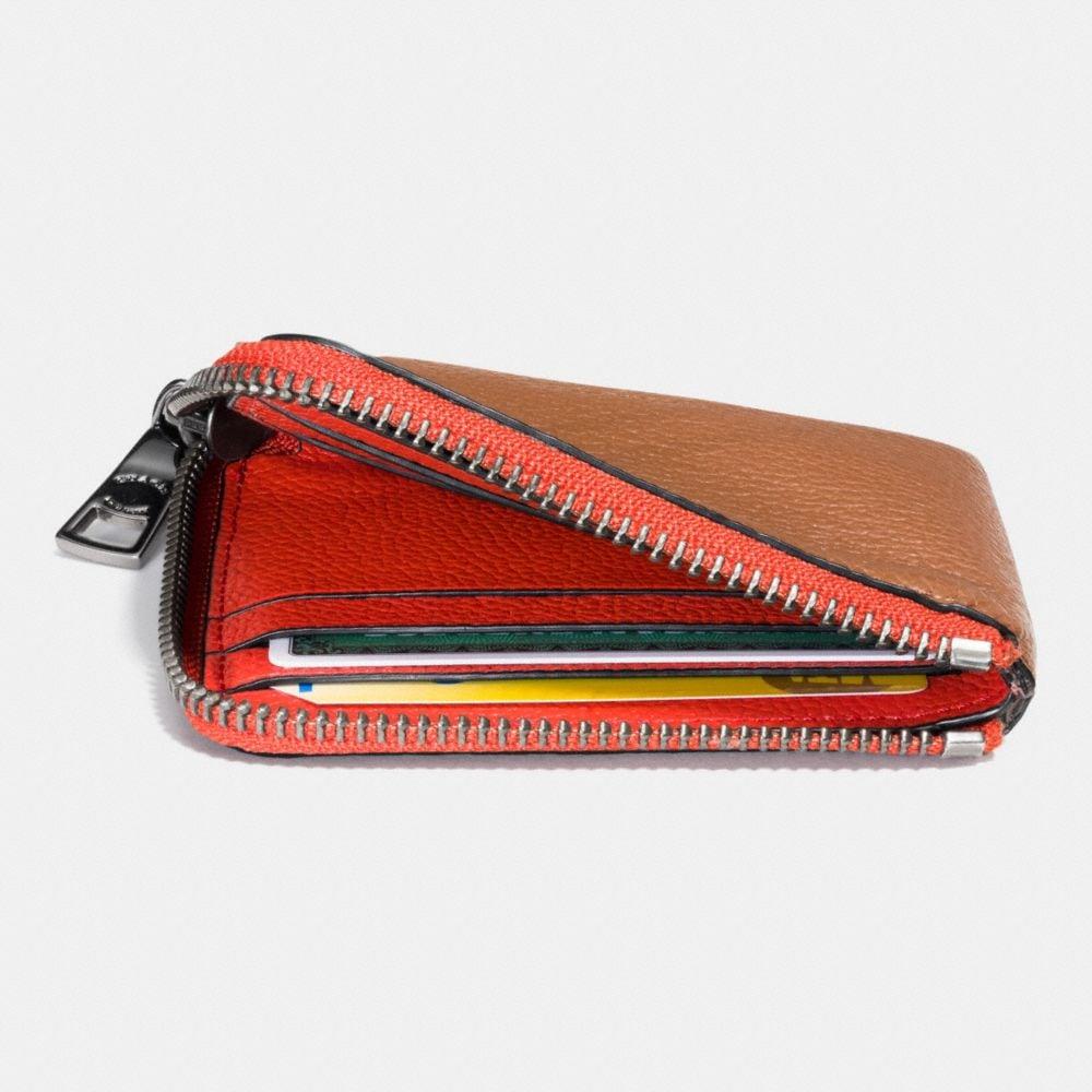 Half Zip Wallet in Pebble Leather - Alternate View L1