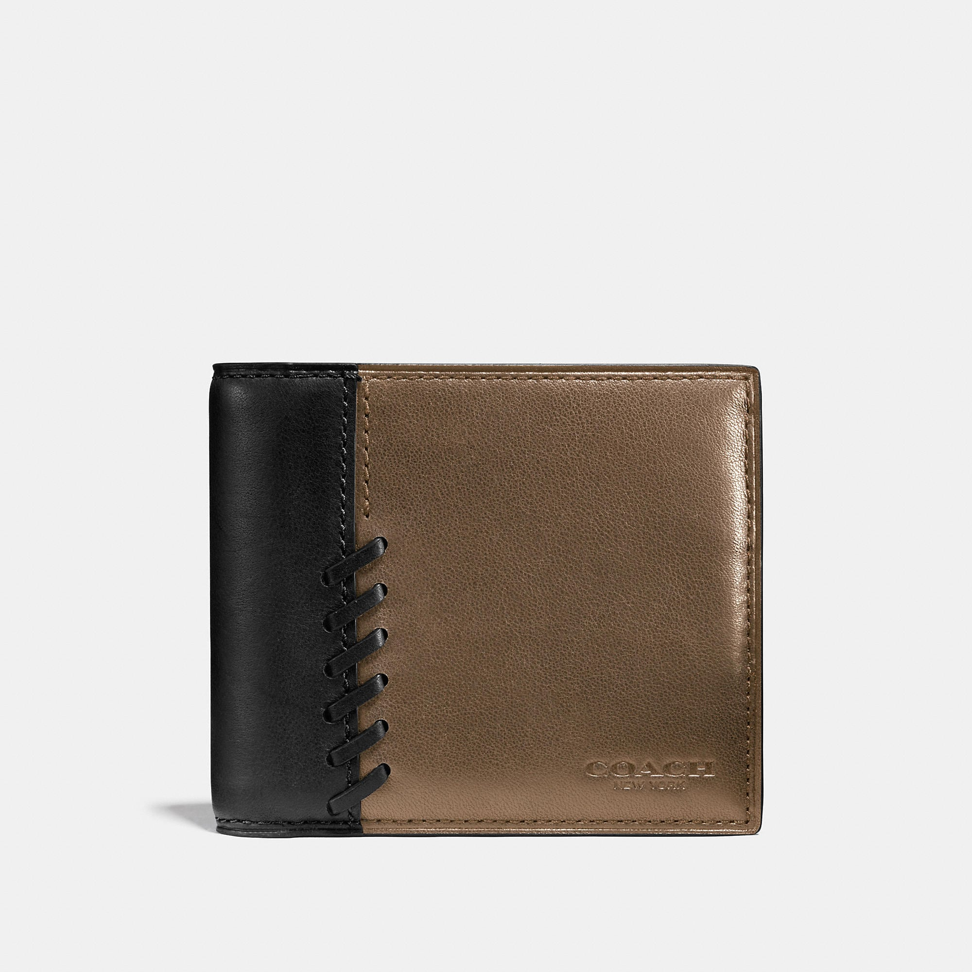 Coach Rip And Repair Compact Id Wallet In Sport Calf Leather