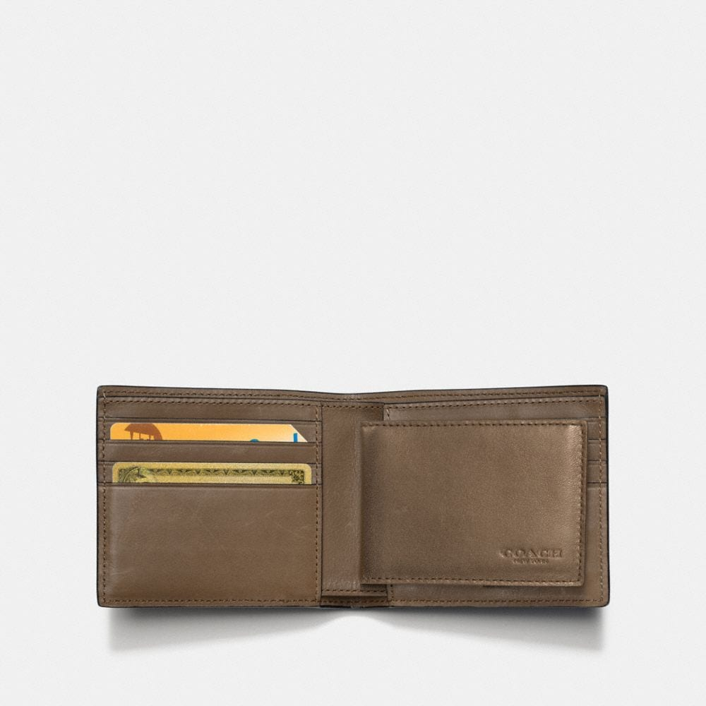 Coach Rip and Repair Compact Id Wallet Alternate View 1