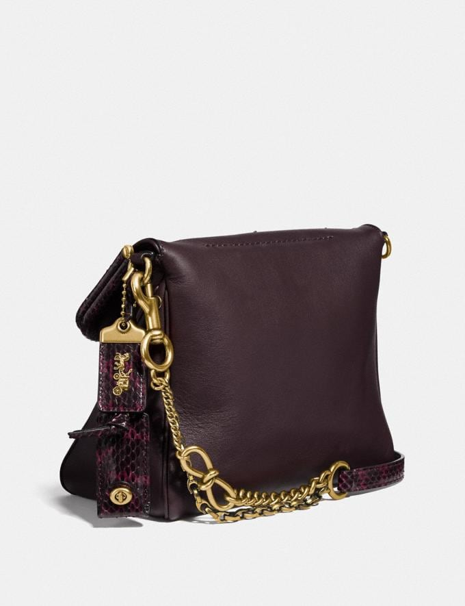 Coach Rider Bag 24 With Star Applique and Snakeskin Detail Oxblood/Brass Women Bags Crossbody Bags Alternate View 1