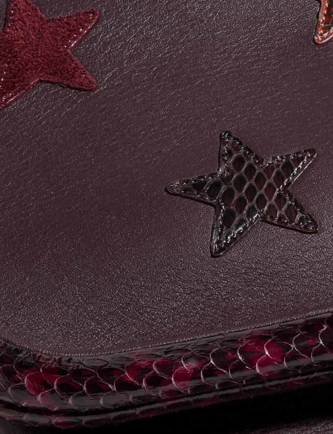 Coach Rider Bag 24 With Star Applique and Snakeskin Detail Oxblood/Brass Women Bags Crossbody Bags Alternate View 4