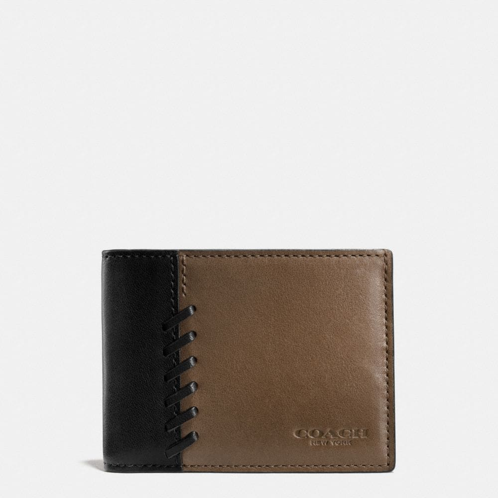 Coach Rip and Repair Slim Billfold Wallet in Sport Calf Leather