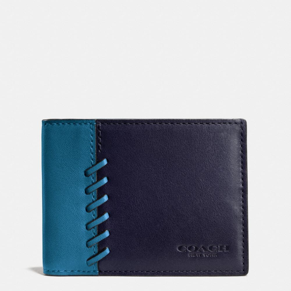 RIP AND REPAIR SLIM BILLFOLD WALLET IN SPORT CALF LEATHER