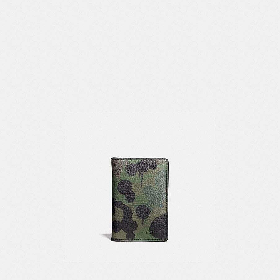 COACH: Card Wallet With Wild Beast Camo Print