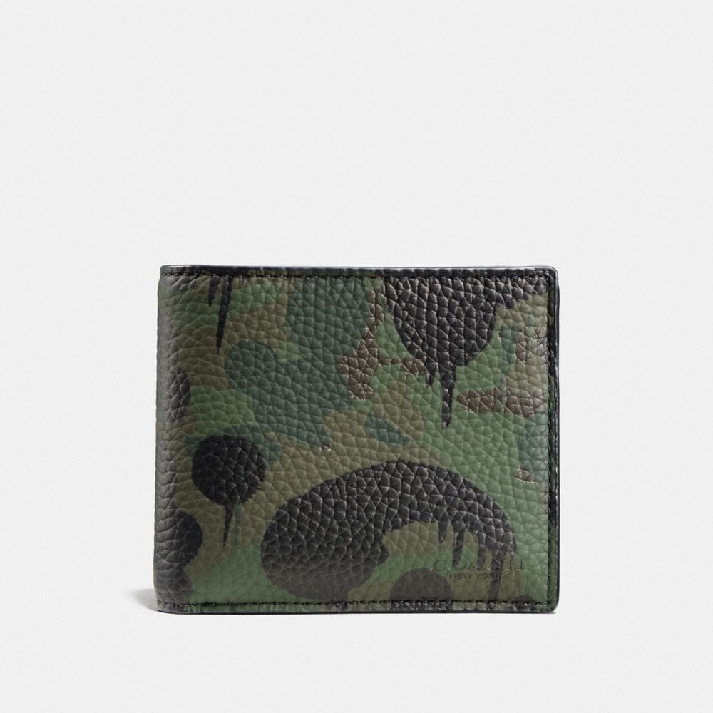 COMPACT ID WALLET WITH WILD BEAST CAMO PRINT