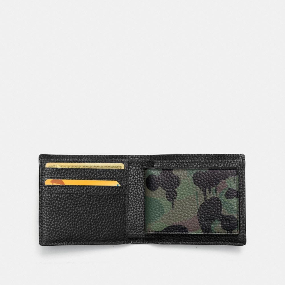 Coach Compact Id Wallet With Wild Beast Camo Print Alternate View 1