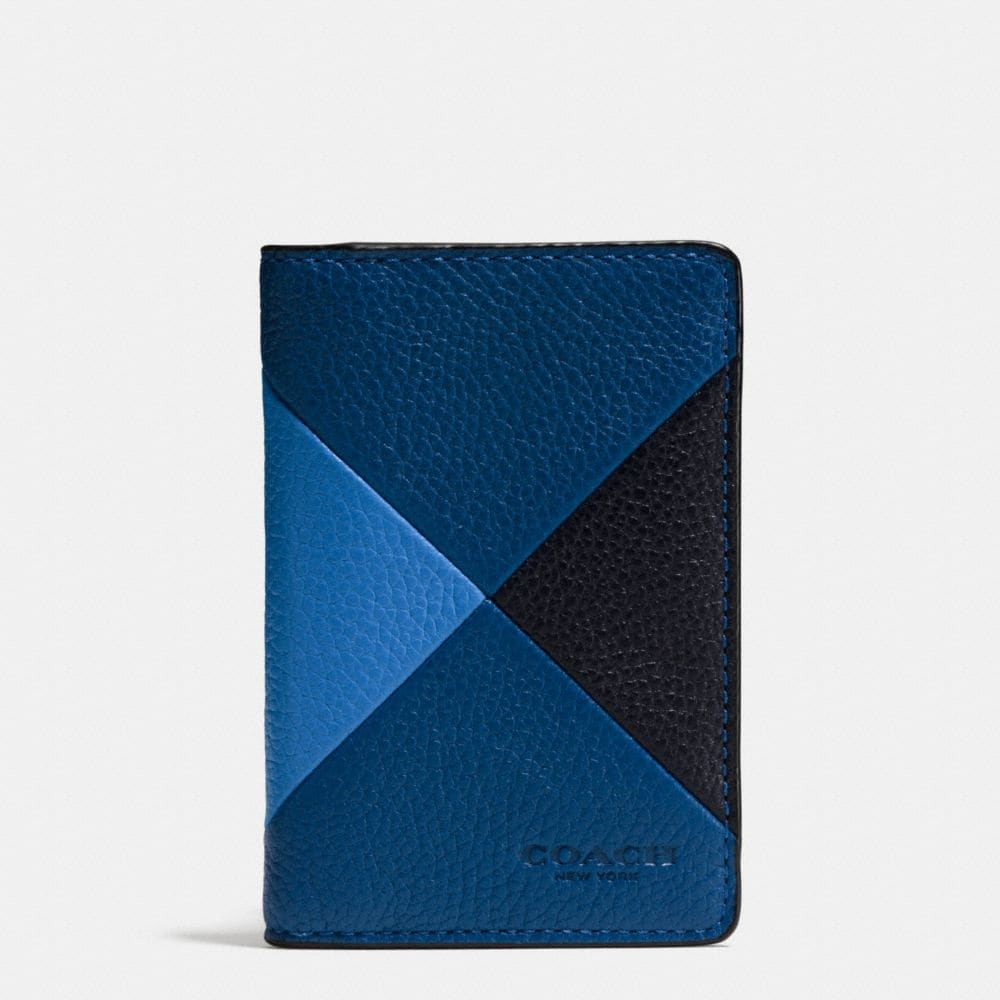 Card Wallet in Patchwork Pebble Leather