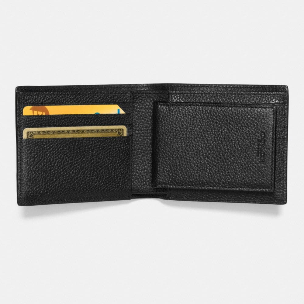 Compact Id Wallet in Patchwork Pebble Leather - Alternate View L1