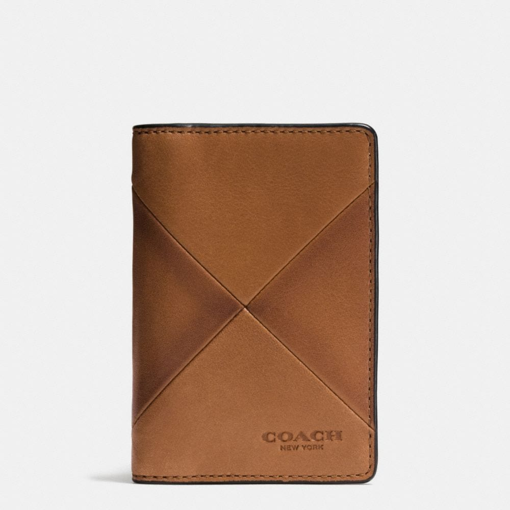 CARD WALLET IN PATCHWORK SPORT CALF LEATHER