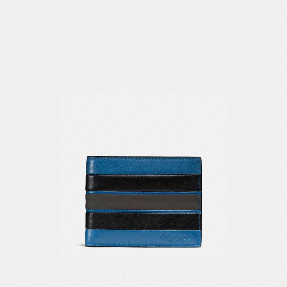 Coach Slim Billfold Wallet With Varsity Stripe