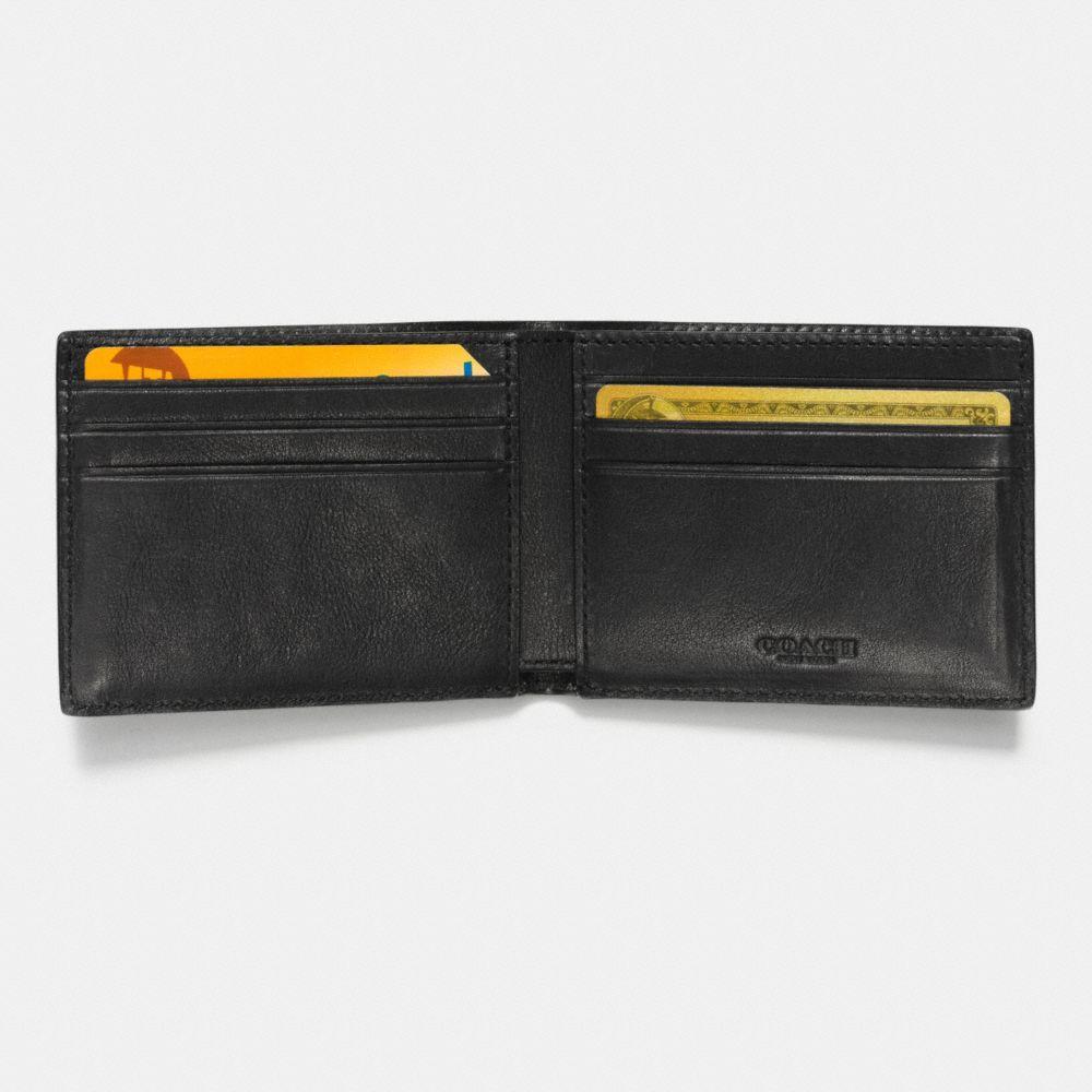Coach Slim Billfold Wallet With Varsity Stripe Alternate View 1