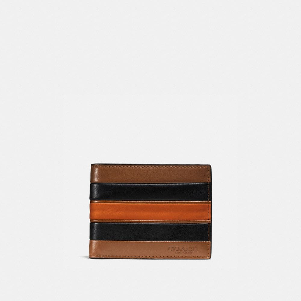 Coach Slim Billfold Wallet With Varsity Stripe