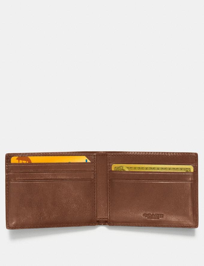 Coach Slim Billfold Wallet With Varsity Stripe Dark Saddle/Black Men Wallets Billfolds Alternate View 1