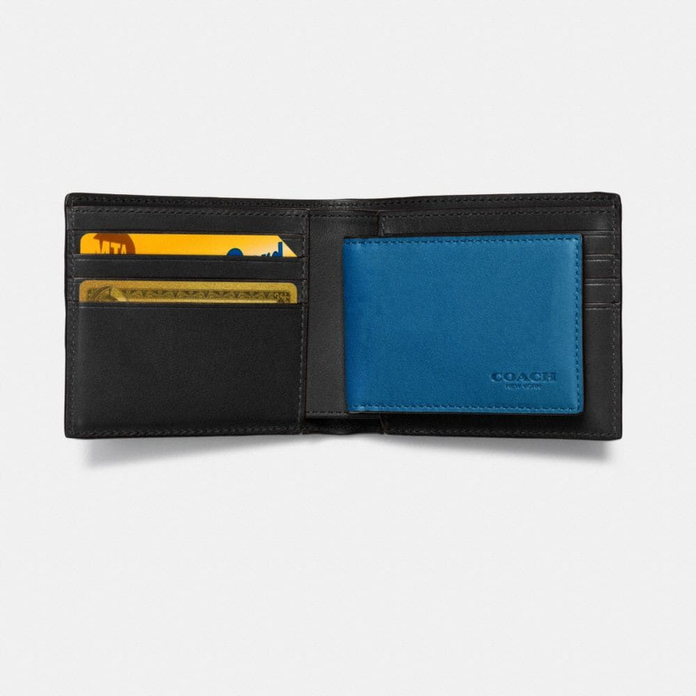 Modern Varsity Stripe 3-In-1 Wallet in Smooth Leather - Alternate View L1