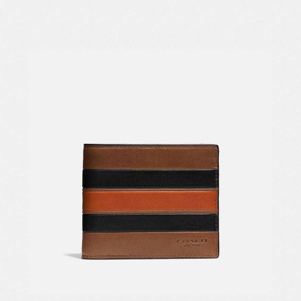 Modern Varsity Stripe 3-In-1 Wallet in Smooth Leather