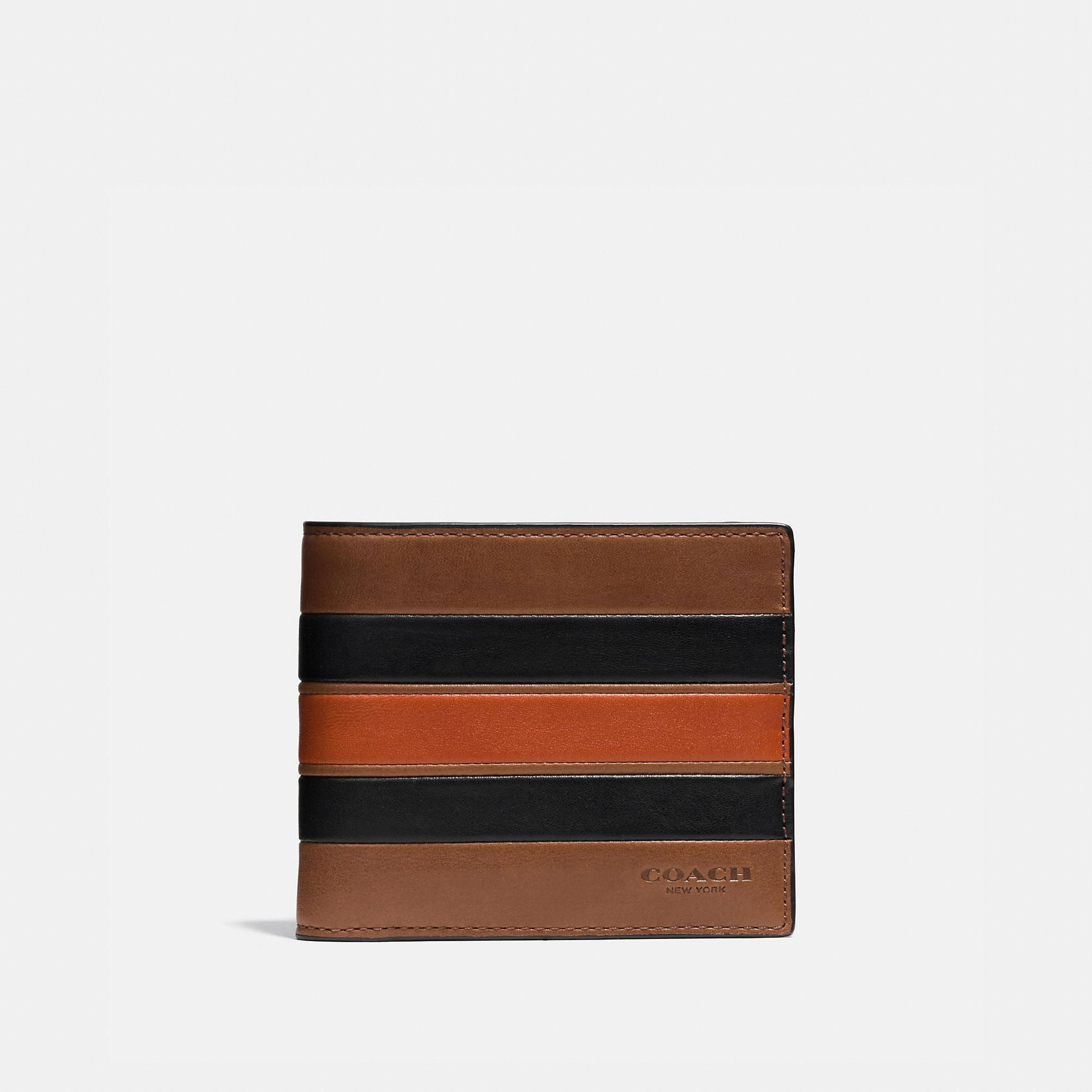 Coach Modern Varsity Stripe 3-In-1 Wallet In Smooth Leather