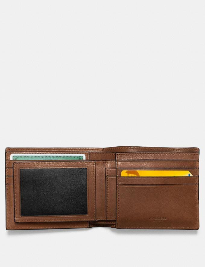 Coach 3-In-1 Wallet With Varsity Stripe Dark Saddle/Black Men Wallets Billfolds Alternate View 2