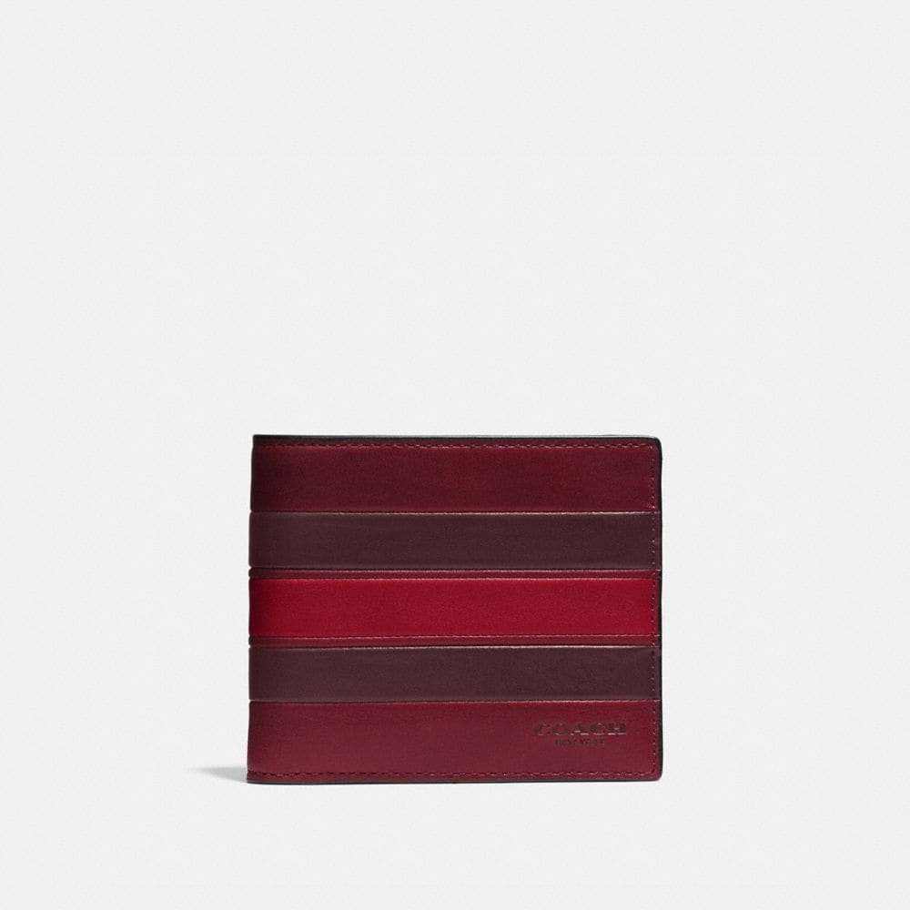 3-IN-1 WALLET IN SMOOTH LEATHER WITH VARSITY STRIPE - Alternate View