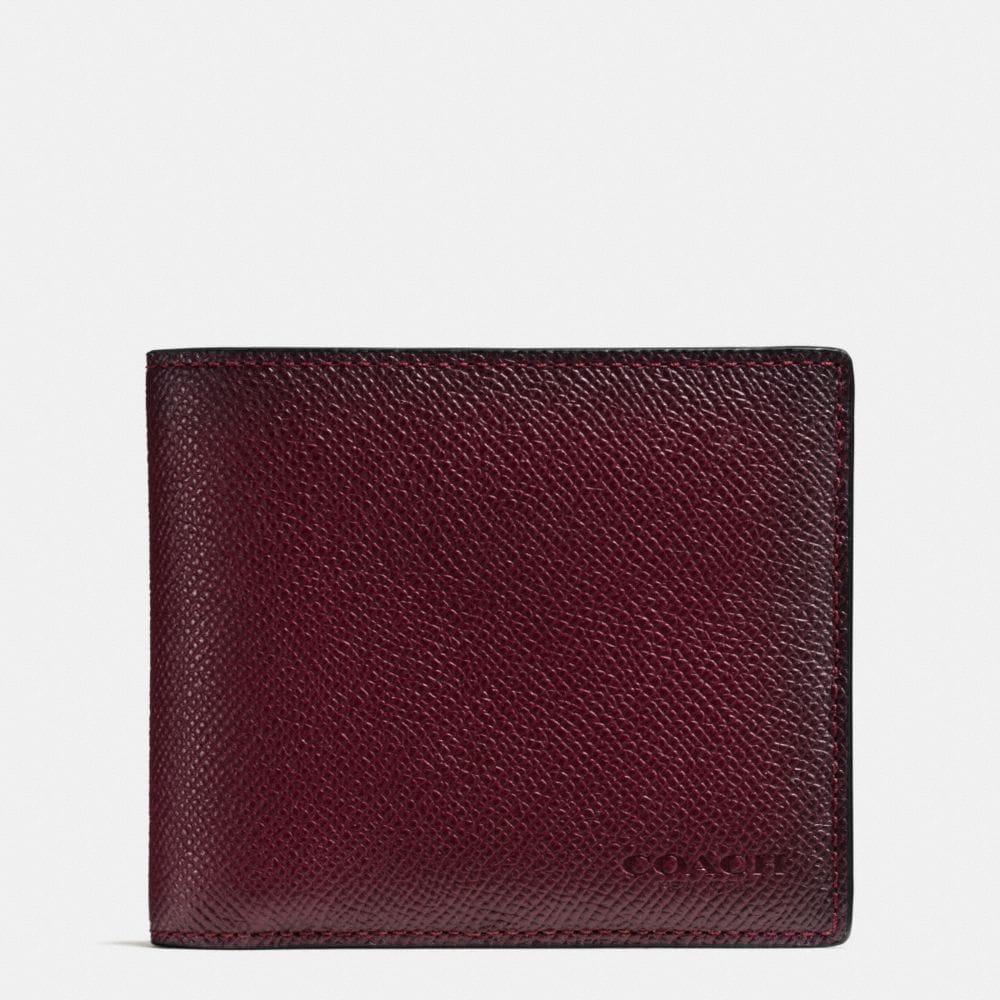 3-IN-1 WALLET IN BURNISHED CROSSGRAIN LEATHER