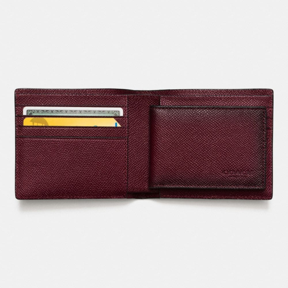 3-In-1 Wallet in Burnished Crossgrain Leather - Alternate View L1