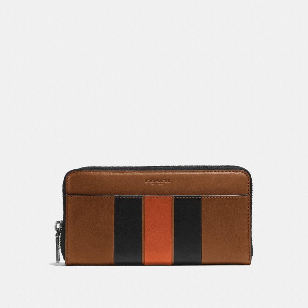 Coach Accordion Wallet With Varsity Stripe