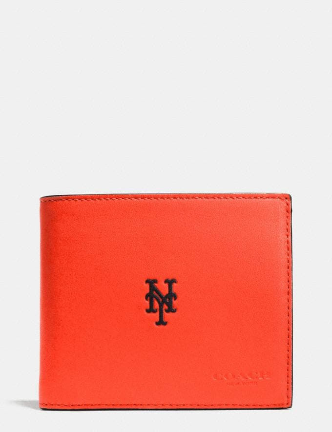 238eabec85 Mlb Compact Id Wallet in Sport Calf Leather | COACH