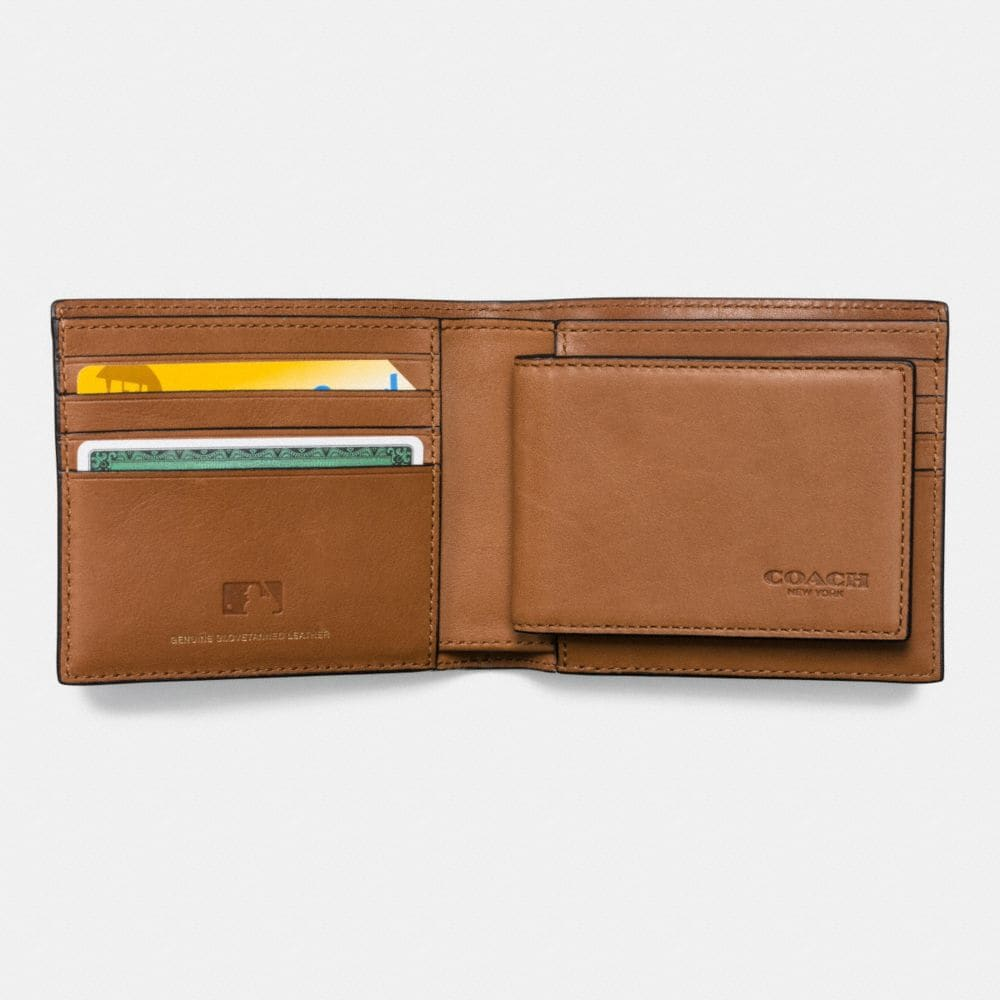 Coach Mlb Compact Id Wallet in Sport Calf Leather Alternate View 1