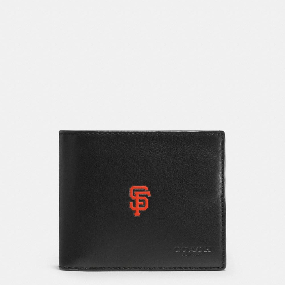 Coach Mlb Compact Id Wallet in Sport Calf Leather