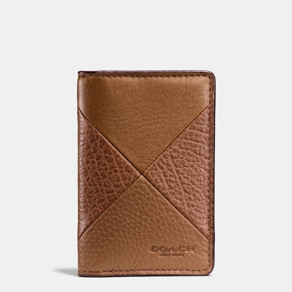 Coach Card Wallet in Patchwork Leather