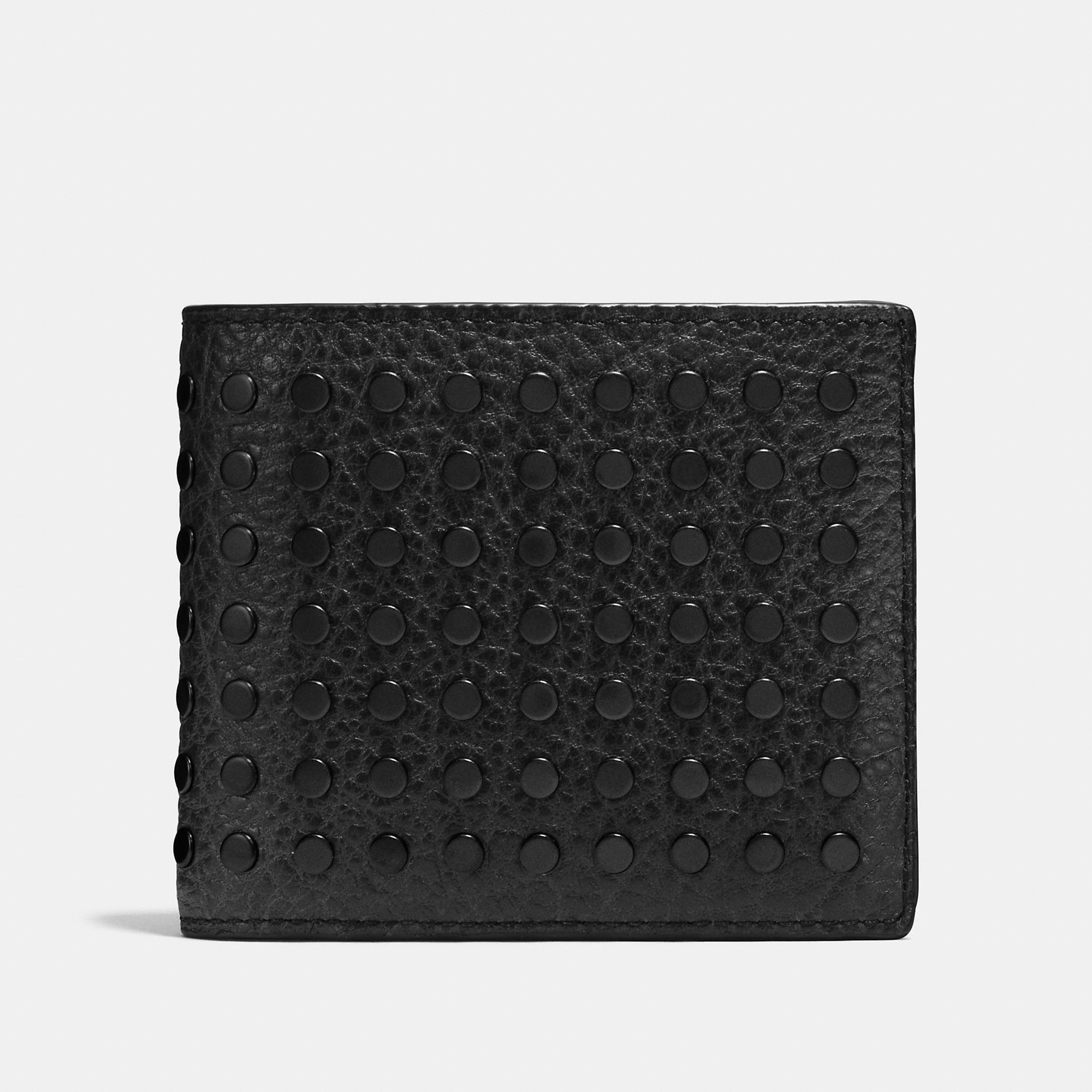 Coach Studs 3-In-1 Wallet In Buffalo Leather