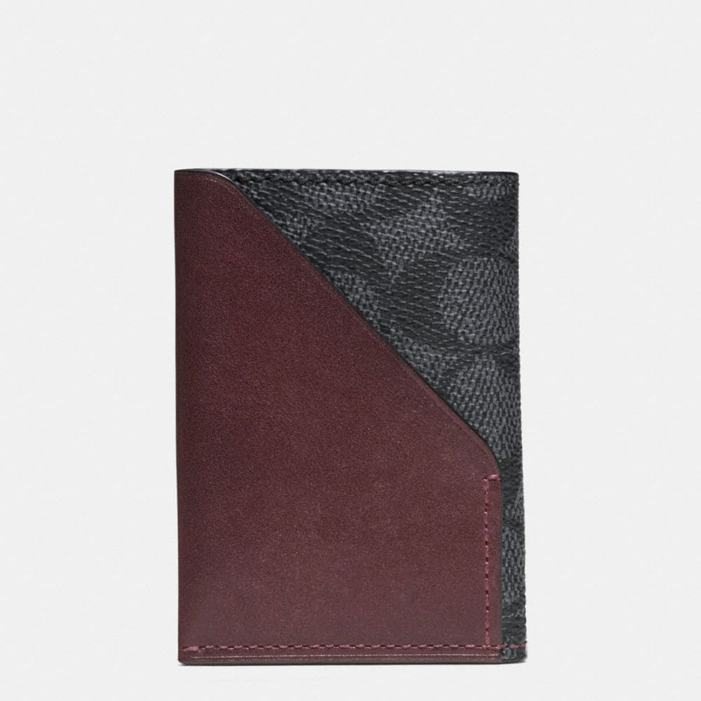 Slim Card Wallet in Signature Coated Canvas - Alternate View A1