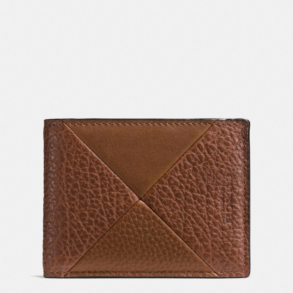 Slim Billfold Wallet in Patchwork Leather
