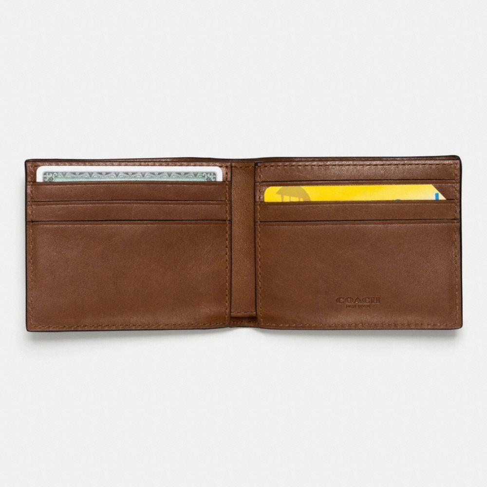 Slim Billfold Wallet in Patchwork Leather - Alternate View L1
