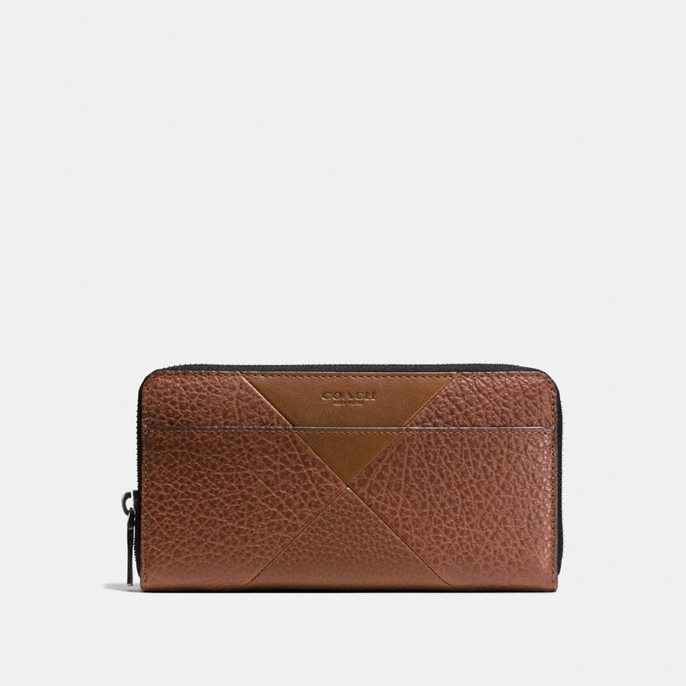 ACCORDION WALLET IN PATCHWORK LEATHER