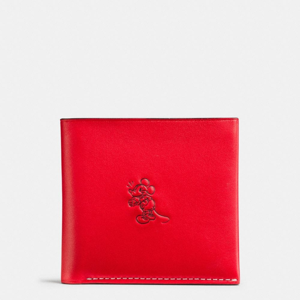 MICKEY DOUBLE BILLFOLD WALLET IN GLOVETANNED LEATHER