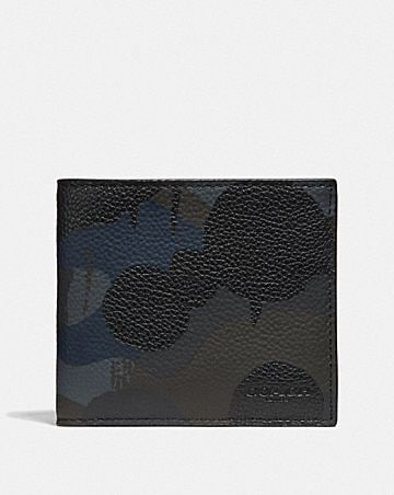 double billfold wallet with wild beast print
