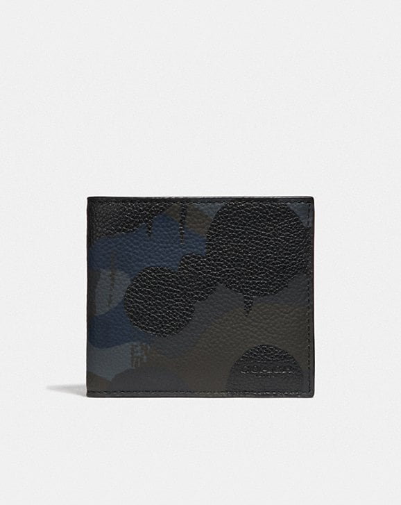 Coach DOUBLE BILLFOLD WALLET WITH WILD BEAST PRINT
