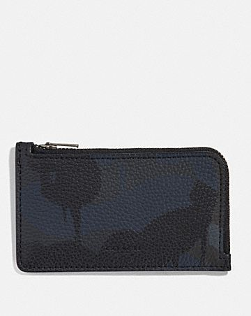 l-zip card case with wild beast print