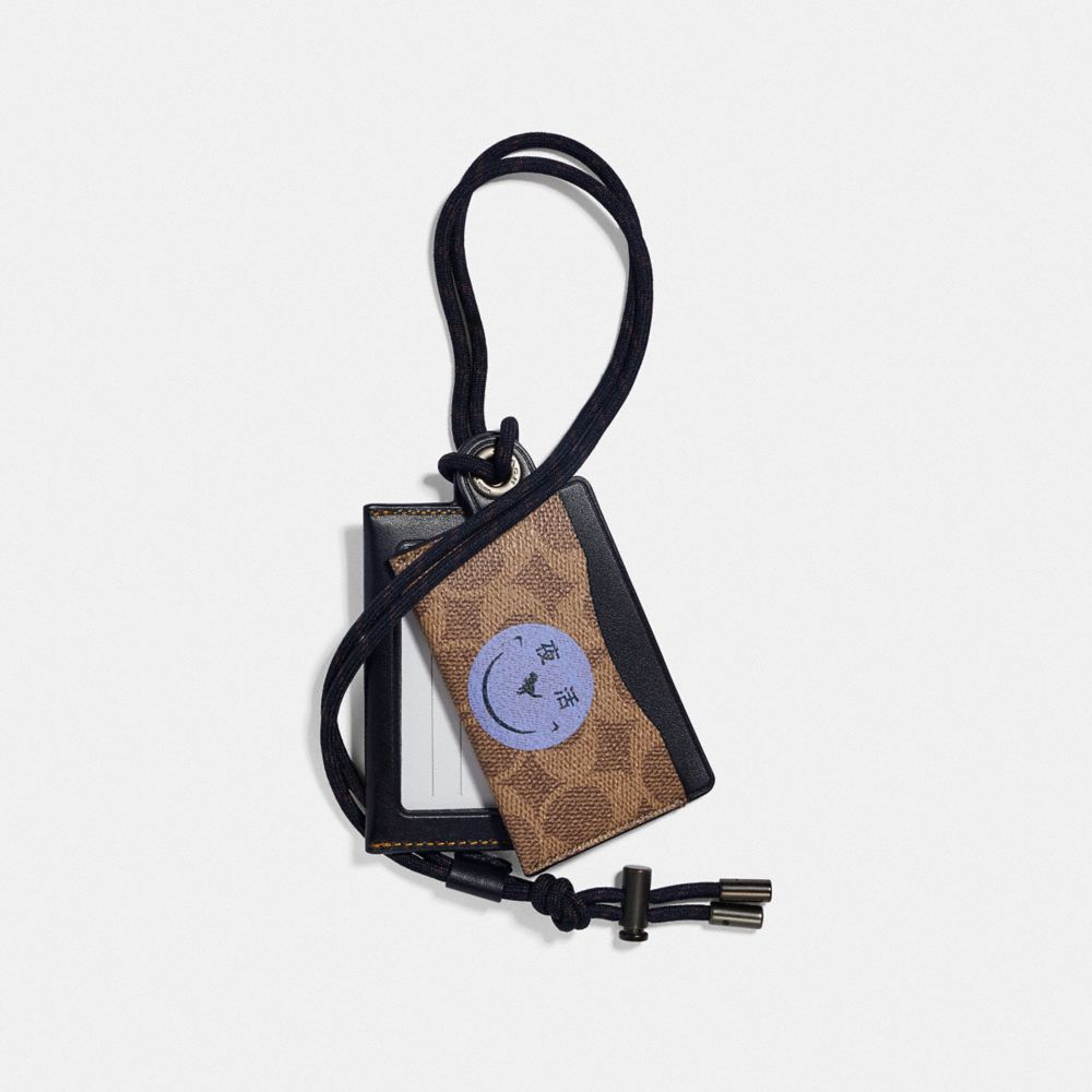 id lanyard card case in signature canvas with rexy by yeti out