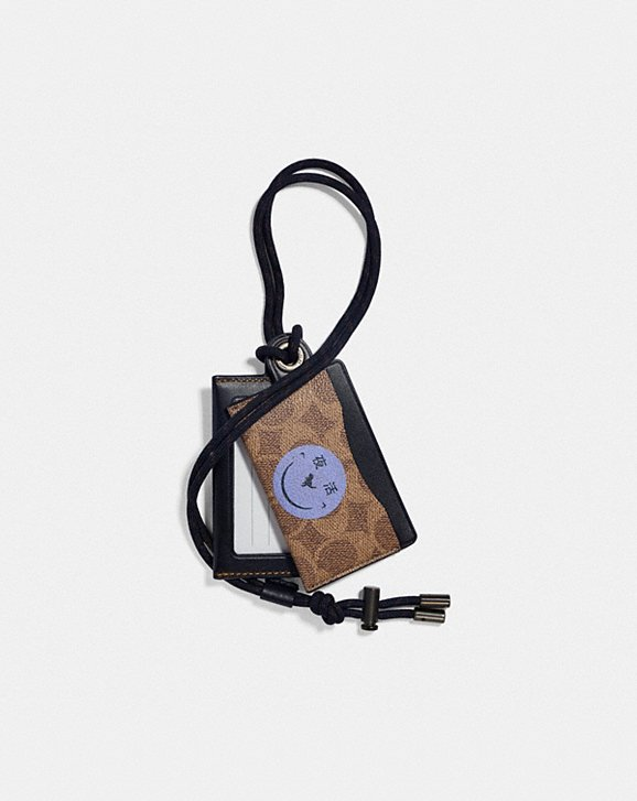 Coach ID LANYARD CARD CASE IN SIGNATURE CANVAS WITH REXY BY YETI OUT